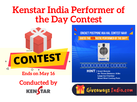 Kenstar India Performer of the Day Contest