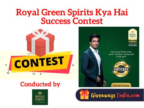 Royal Green Spirits Kya Hai Success Contest