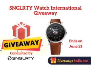 SNGLRTY Watch International Giveaway
