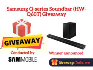 Samsung Q-series Soundbar (HW-Q60T) Giveaway