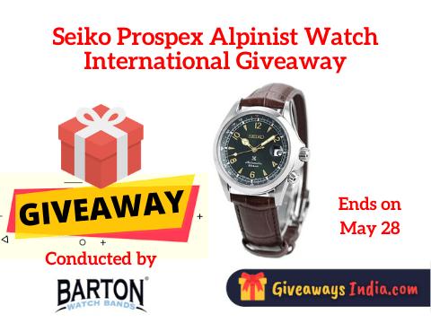 Seiko Prospex Alpinist Watch International Giveaway