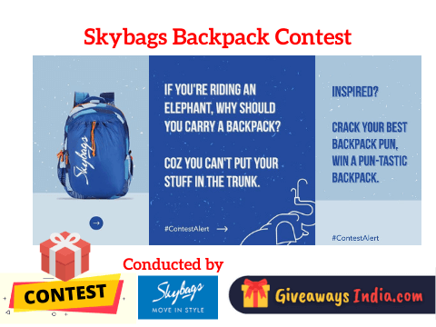 Skybags Backpack Contest