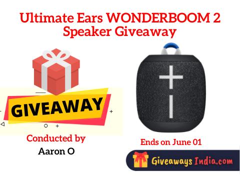 Ultimate Ears WONDERBOOM 2 Speaker Giveaway
