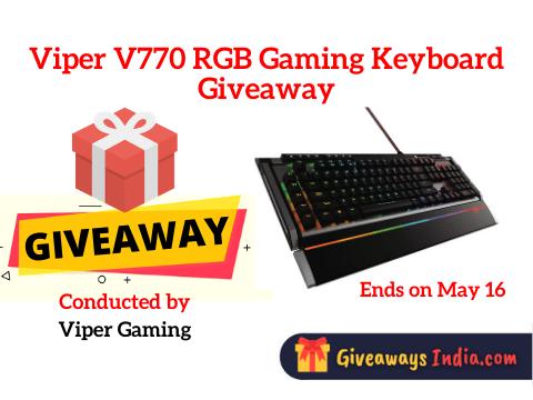 Viper V770 RGB Gaming Keyboard Giveaway