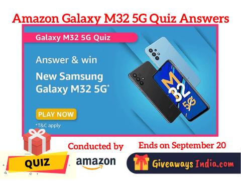 Amazon Galaxy M32 5G Quiz Answers