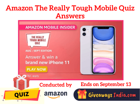 Amazon The Really Tough Mobile Quiz Answers