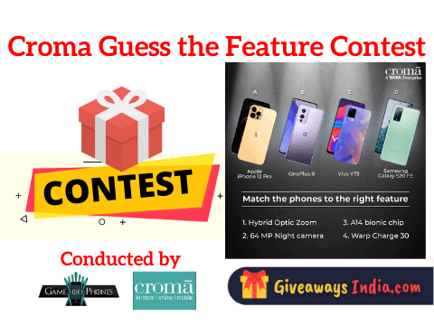 Croma Guess the Feature Contest