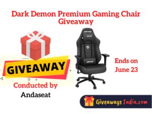 Dark Demon Premium Gaming Chair Giveaway