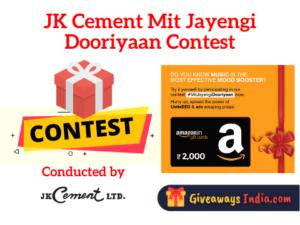 JK Cement Mit Jayengi Dooriyaan Contest