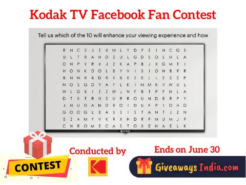 Kodak TV Facebook Fan Contest