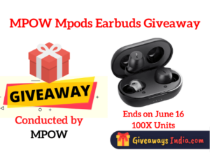 MPOW Mpods Earbuds Giveaway