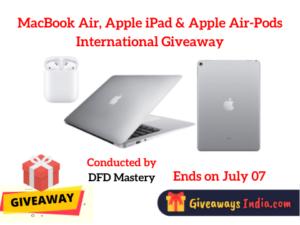 MacBook Air, Apple iPad & Apple Air-Pods International Giveaway