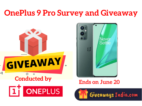 OnePlus 9 Pro Survey and Giveaway