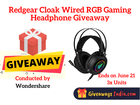 Redgear Cloak Wired RGB Gaming Headphone Giveaway