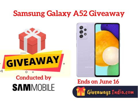 Samsung Galaxy A52 Giveaway