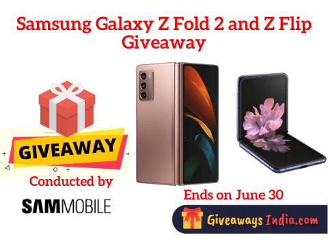 Samsung Galaxy Z Fold 2 and Z Flip Giveaway