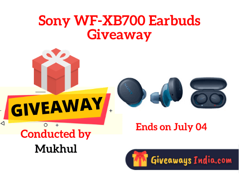 Sony WF-XB700 Earbuds Giveaway