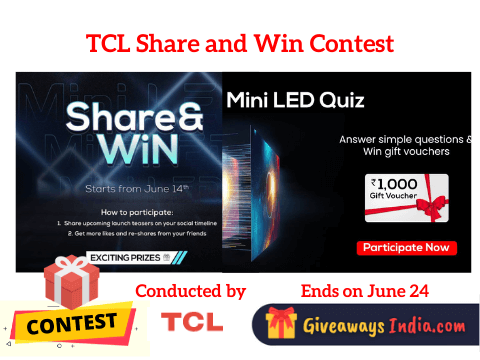 TCL Share and Win Contest