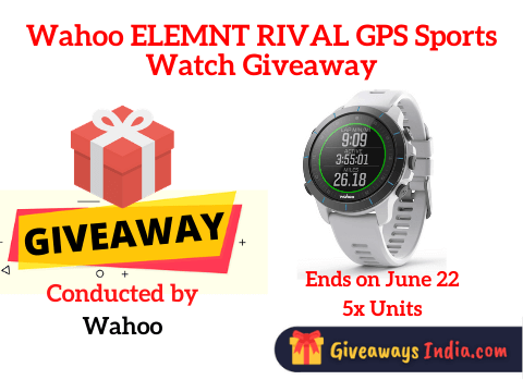 Wahoo ELEMNT RIVAL GPS Sports Watch Giveaway