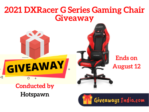2021 DXRacer G Series Gaming Chair Giveaway