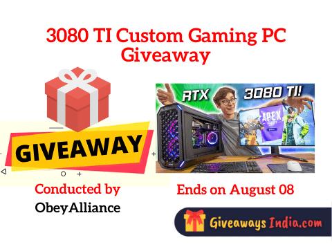 3080 TI Custom Gaming PC Giveaway