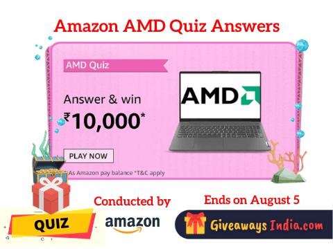 Amazon AMD Quiz Answers