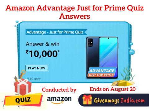 Amazon Advantage Just for Prime Quiz Answers