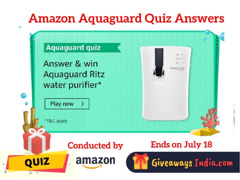 Amazon Aquaguard Quiz Answers