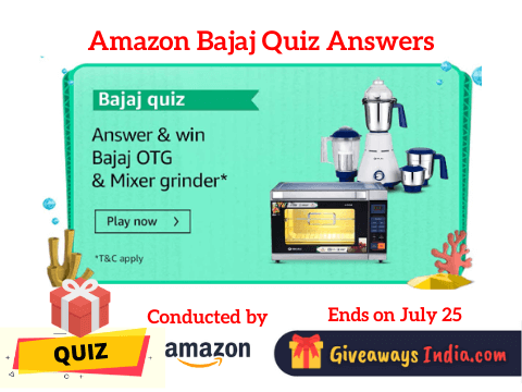 Amazon Bajaj Quiz Answers