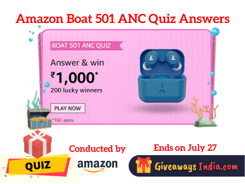 Amazon Boat 501 ANC Quiz Answers