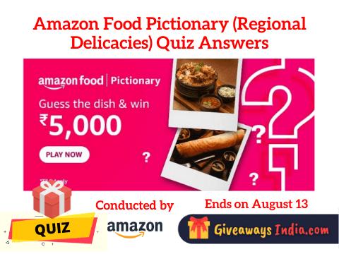 Amazon Food Pictionary Quiz Answers