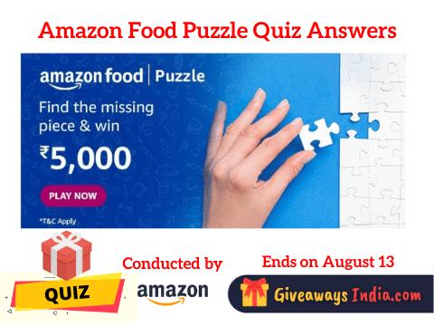 Amazon Food Puzzle Quiz Answers