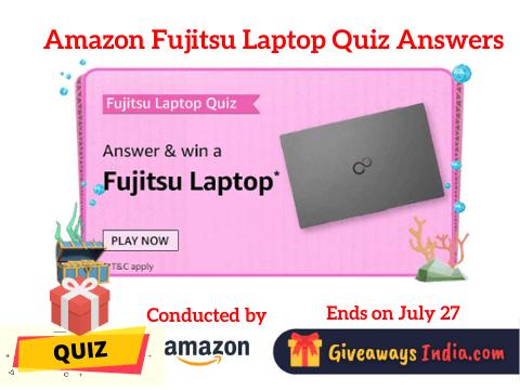 Amazon Fujitsu Laptop Quiz Answers