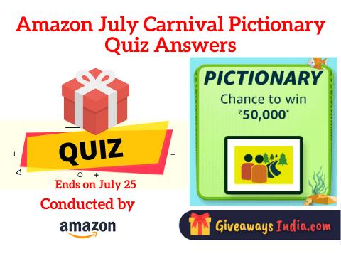 Amazon Funzone July Carnival Pictionary Quiz Answers