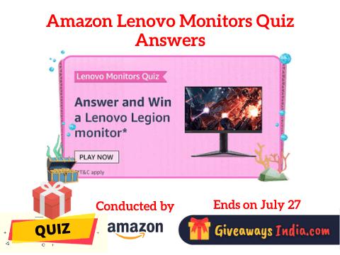 Amazon Lenovo Monitors Quiz Answers