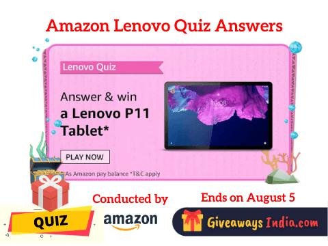 Amazon Lenovo Tablets Quiz Answers