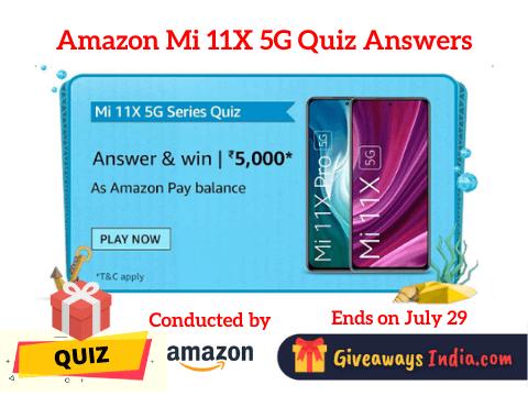 Amazon Mi 11X 5G Quiz Answers