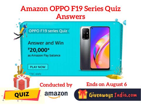 Amazon OPPO F19 Series Quiz Answers