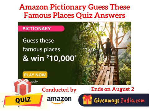 Amazon Pictionary Guess These Famous Places Quiz Answers