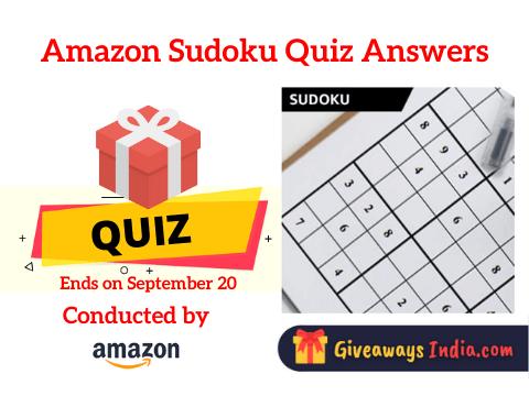 Amazon Sudoku Quiz Answers