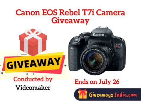 Canon EOS Rebel T7i Camera Giveaway
