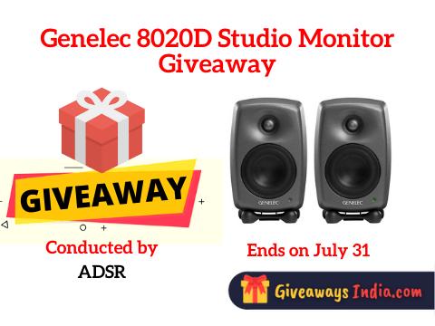 Genelec 8020D Studio Monitor Giveaway