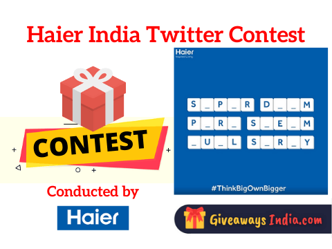 Haier India Twitter Contest