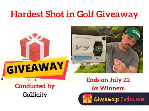 Hardest Shot in Golf Giveaway