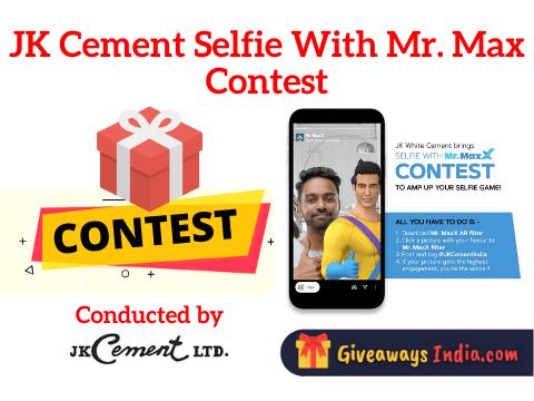 JK Cement Selfie With Mr. Max Contest