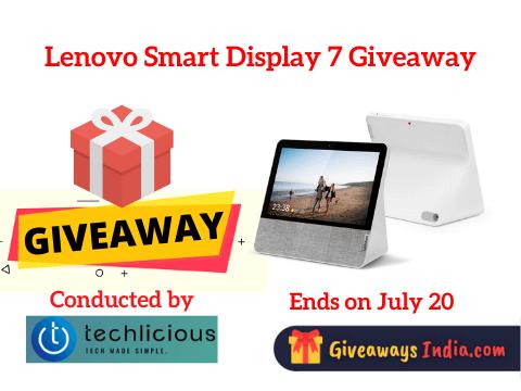 Lenovo Smart Display 7 Giveaway