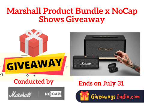 Marshall Product Bundle x NoCap Shows Giveaway