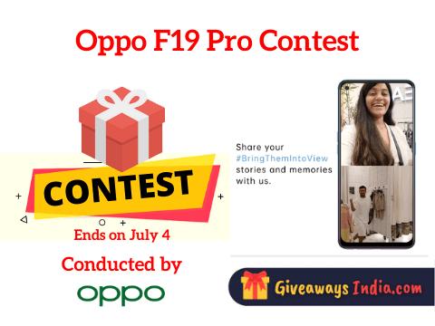 Oppo F19 Pro Contest