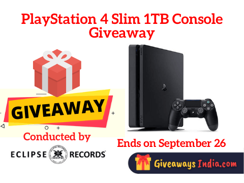 PlayStation 4 Slim 1TB Console Giveaway