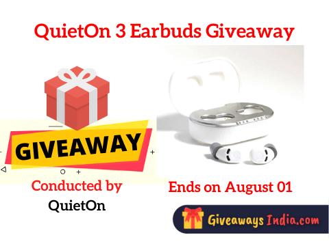 QuietOn 3 Earbuds Giveaway